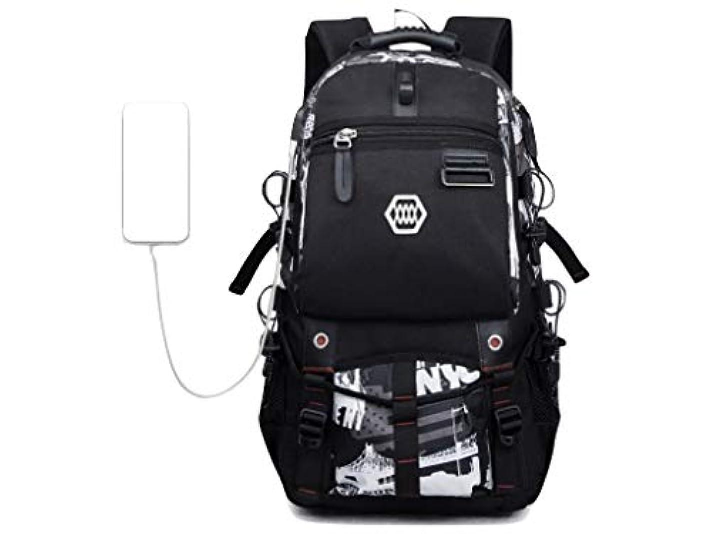 平行品ボイコット【hkukat】旅 旅行 バックパック 大容量 USB充電ポート付き 防水 登山リュック ハイキング デイバッグ キャンプ アウトドア クライミング スクール 男女兼用