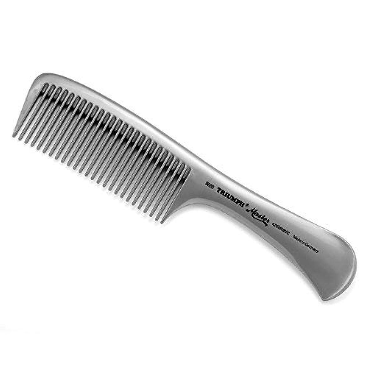 作動する石炭とにかくTriumph Master Handle Comb Silver 8.5