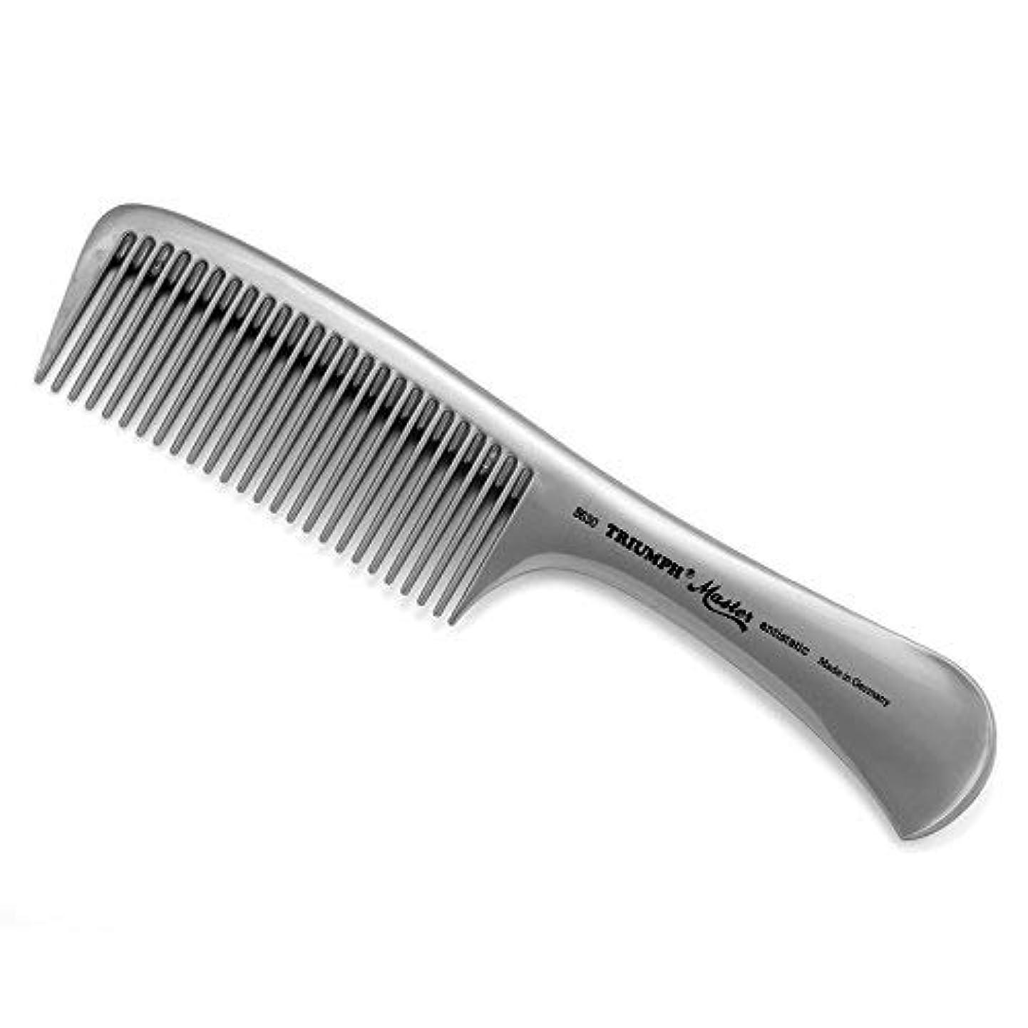 応用減らす助言Triumph Master Handle Comb Silver 8.5