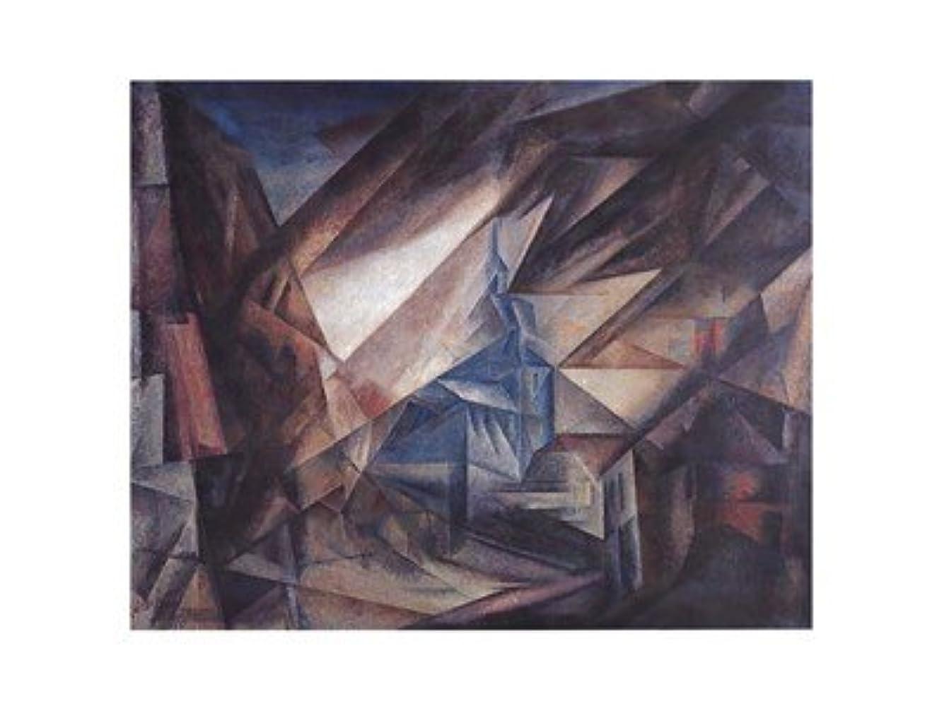 いじめっ子親指ガイドniedergrunstet by Lyonel Feininger – 28 x 22インチ – アートプリントポスター LE_27605