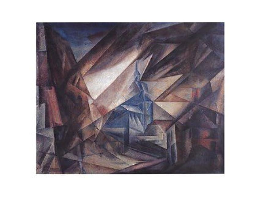 応用習慣枕niedergrunstet by Lyonel Feininger – 28 x 22インチ – アートプリントポスター LE_27605