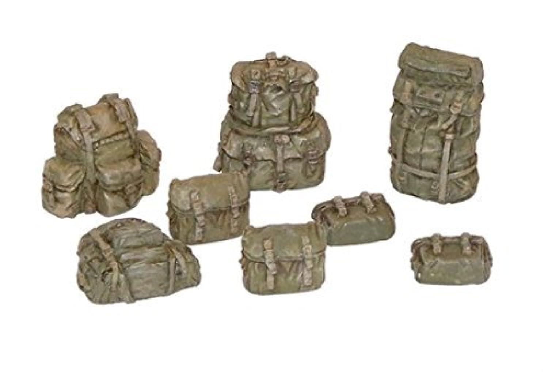 プラスモデル1 : 35 US Rucksacks WWII Resin Diorama Accessory # 399