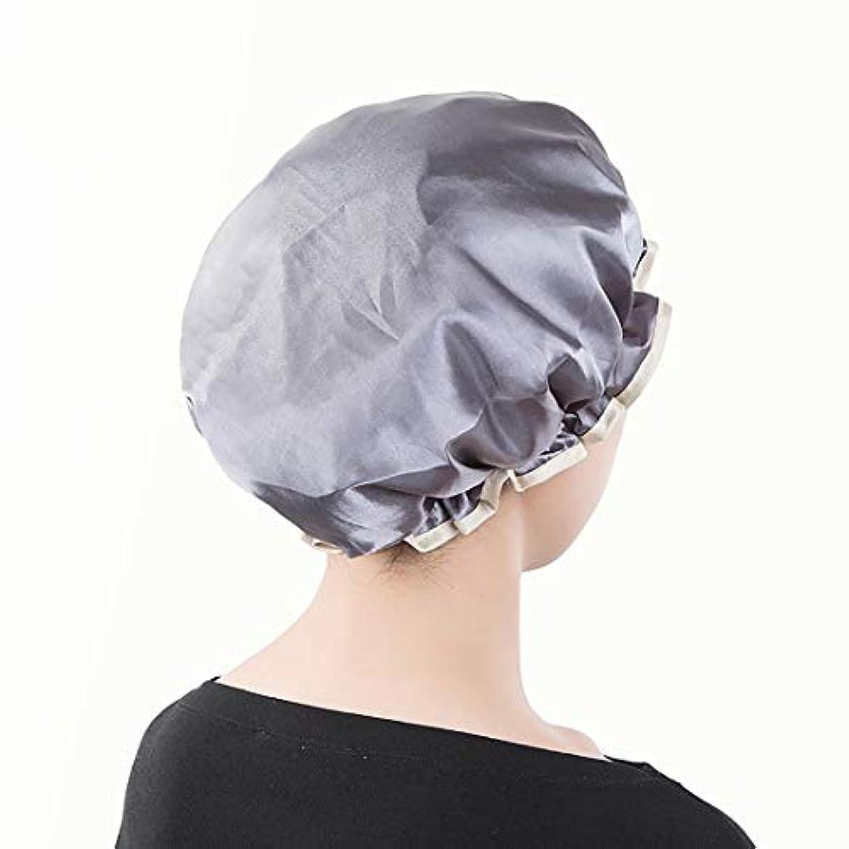 郵便物寛大さ屋内Swiftgood シャワーキャップ、特大バスキャップ、すべての髪の長さと太さに最適 - 防水性 - 二重層