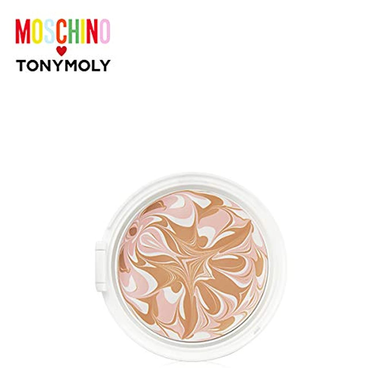 リスク餌起きているTONYMOLY [MOSCHINO] Chic Skin Essence Pact -Refill #02 CHIC BEIGE トニーモリー [モスキーノ] シック スキン エッセンス パクト -リフィル [詰め替え...