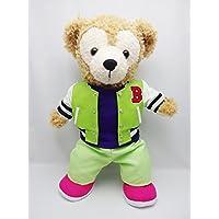 Sサイズ(全長43cm) ダッフィー 衣装 黄緑 スタジアムジャンバー コスチューム  hdn09