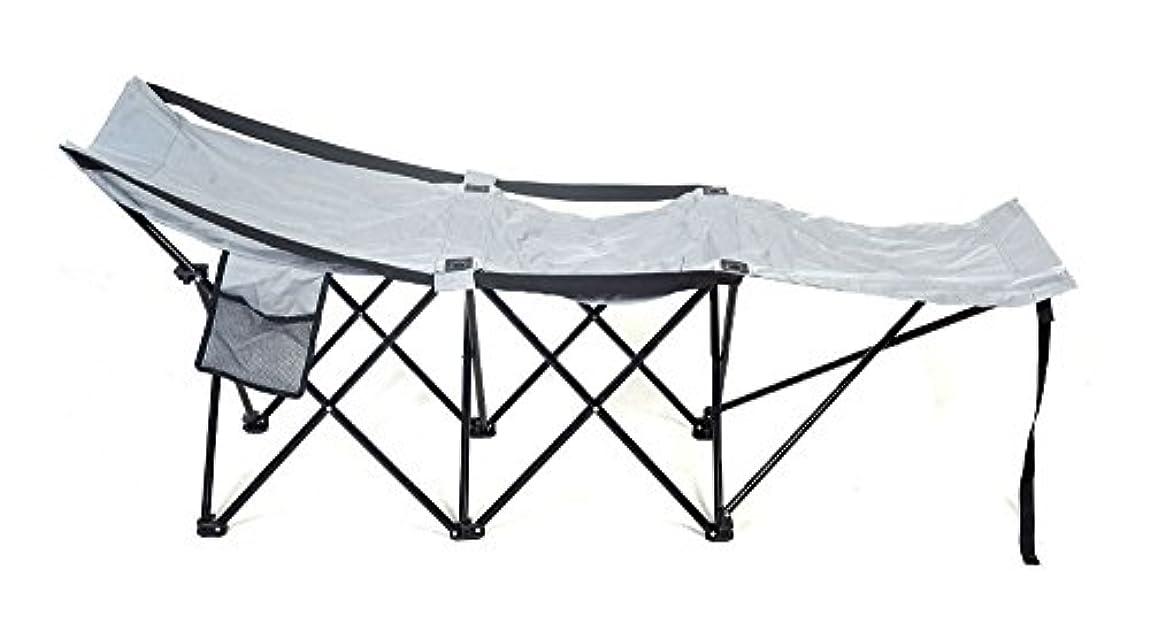 ストリップ騒ぎ年次折り畳み式ポータブルキャンプアドベンチャーキャンプベッド丈夫なハンモックスリーピングコットスチール