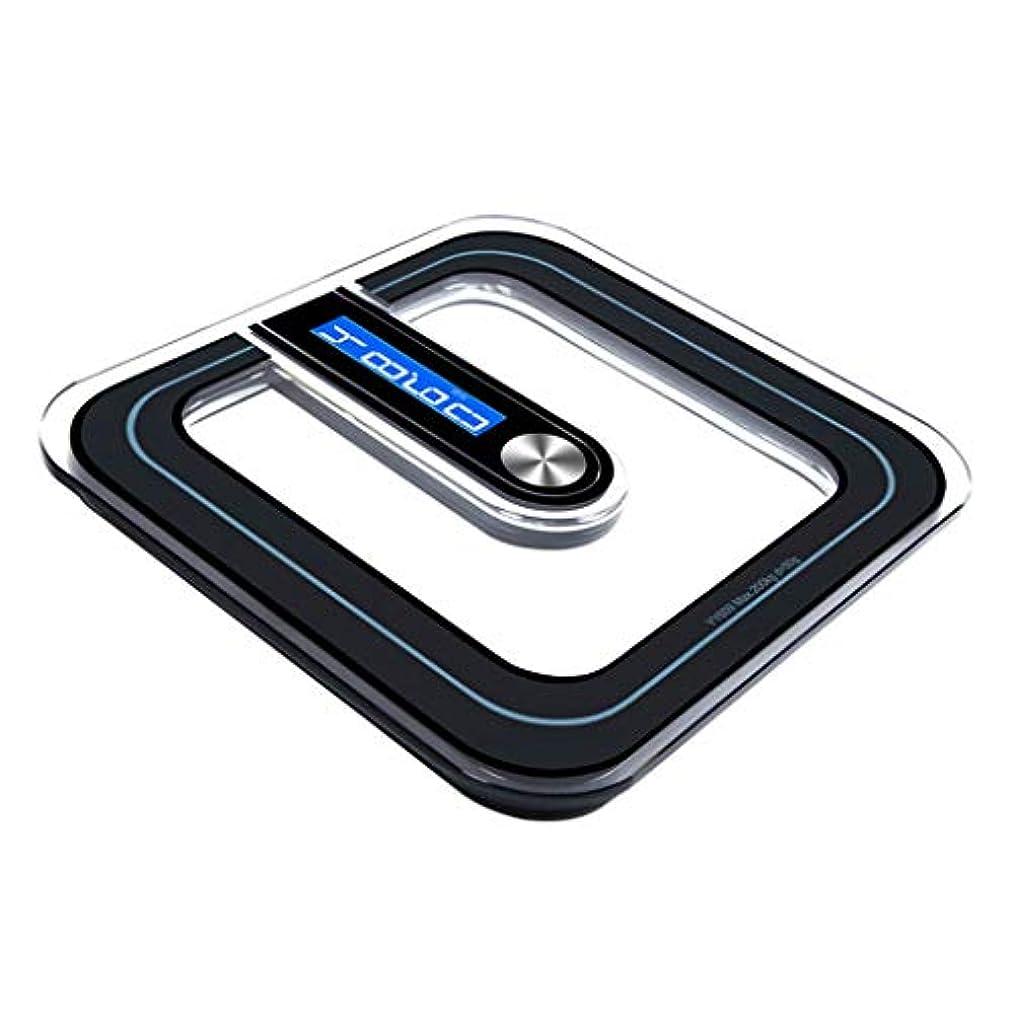 マージ穿孔する今まで体重計 透明電子スケールデジタル高精度ノンスリップバスルーム重量スケール成人健康失う重量バックライトディスプレイ180kg容量ブラック