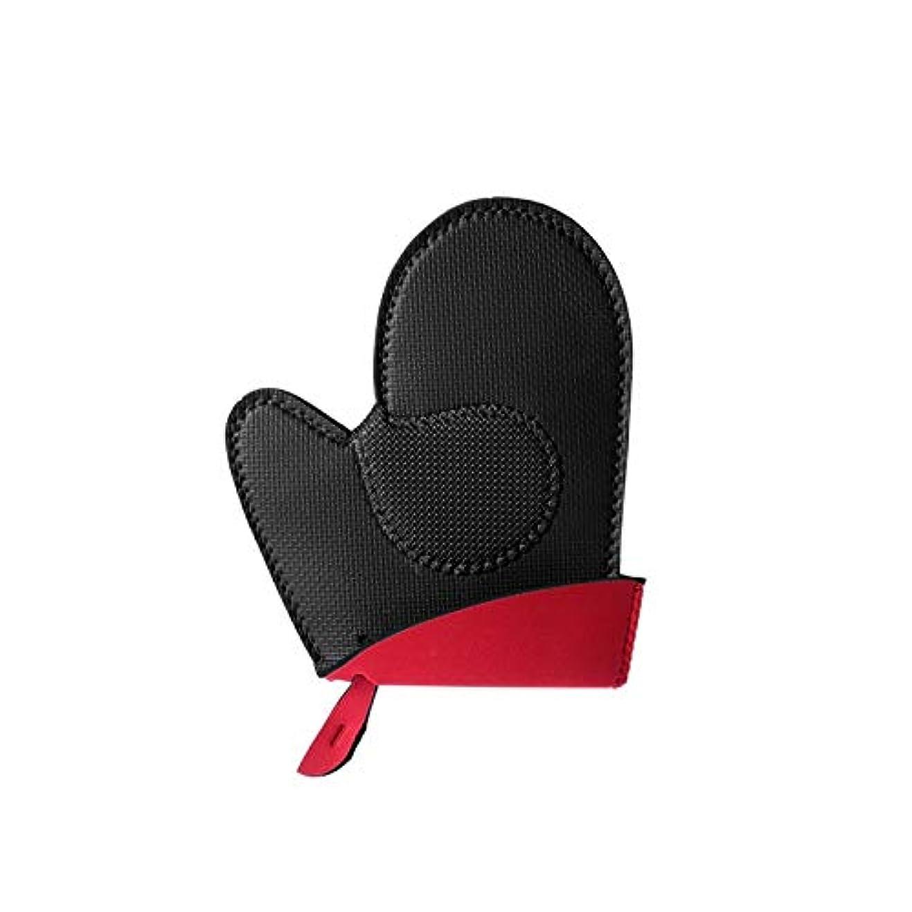 筋肉の伝える巨大キャンプグローブ 焼き付き防止手袋、耐摩耗性シリコーンおよび綿で絶縁された電子レンジ、高温ベーキング、焼き付き防止手袋 耐熱グローブ (Color : Black, UnitCount : Two)