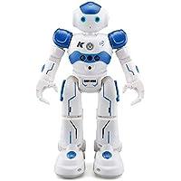 Haibei ロボットおもちゃ ラジコンロボット ログラム可能 ジェスチャ・手振り制御 男の子のおもちゃ 多機能ロボット 歩く ダンス ソング 誕生日 七五三 クリスマス プレゼント (ブルー)
