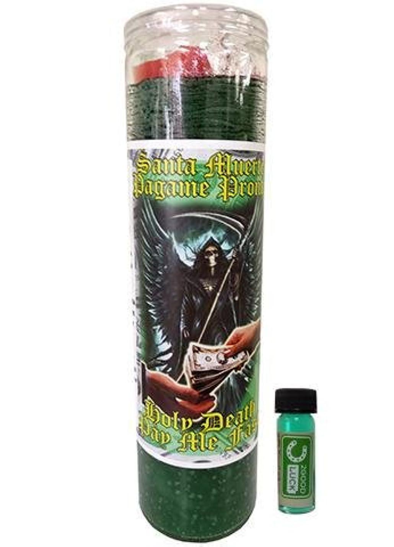 初心者非行銛Holy Death Pay Me Now Dressed Scented Candle – Veladora Preparada Santa Muerte Pagame Pronto