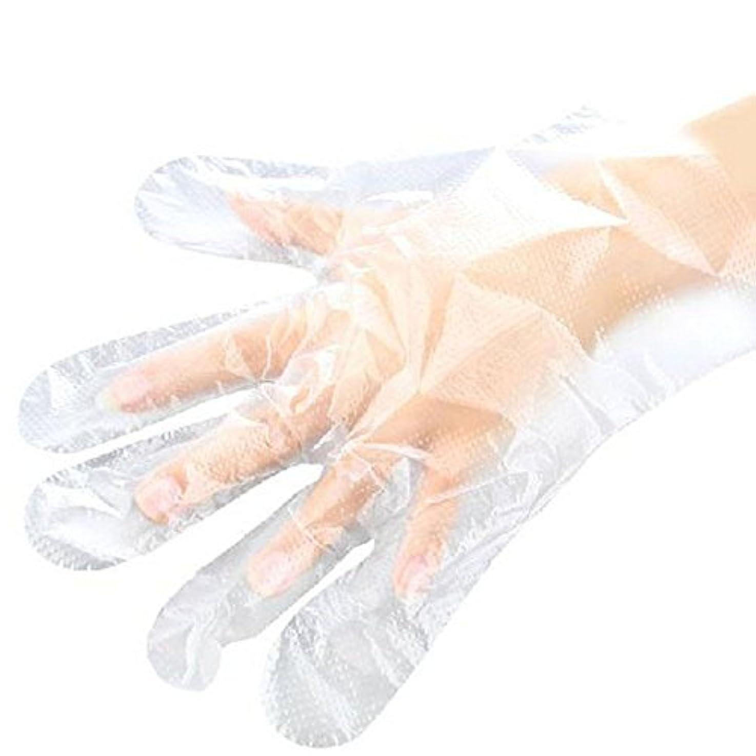 リンケージ書店障害山の奥 使い捨て手袋 ポリエチレン使い切り手袋 極薄 調理 透明 実用 衛生 100枚入