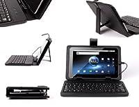 DURAGADGET保護Fauxレザーケースカバーwith Micro USBキーボード& Built Inスタンドfor Motorola et1、Creative ZiiO 7インチ& Hyundai a7タブレット