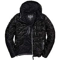 Superdry Men's Diagonal Quilt Fuji Jacket, Black