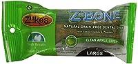 Zukes Z Bone Grain Free Pet Nutrition Large Apple Crisp Dog Dental Chew 18ct