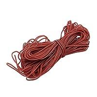 eDealMax 10 メトロス 30AWG ブラウンゲージ フレキシブルなtrenzado de alambre de cobre de silicona Cable Para RC