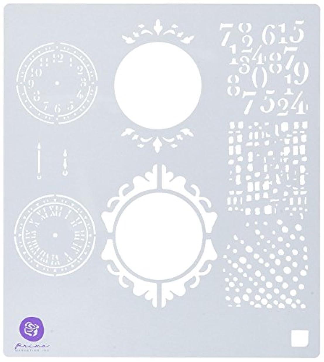 増強する悪性腫瘍数値Salvage District Stencil 15cm x 15cm -Clocks