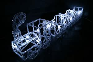 【3Dモチーフライト】室内用LEDミニ汽車 トレイン 24球