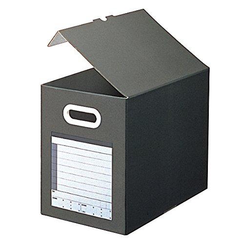 RoomClip商品情報 - プラス ファイルボックス サンプル用 A4横 背幅200mm 87-118 ダークグレー