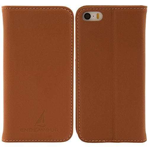 ENDEAVOUR (エンデバー) iPhone SE / iPhone 5s / iPhone 5 手帳型 ケース 厳選 銀付き革 高級牛革 本革 サ...
