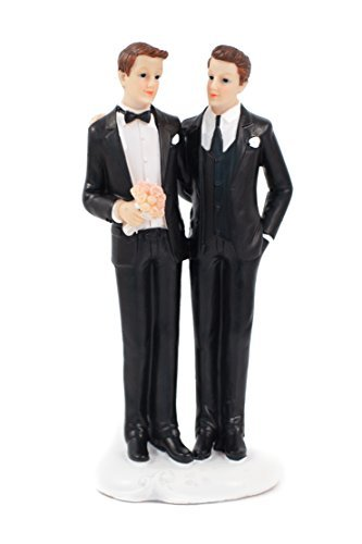 WEDDING SENTIMENTALS - Gay Couple Wedding Cake Topper [並行輸入品]