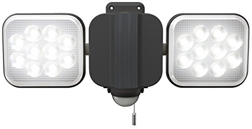 ライテックス 12W×2灯 フリーアーム式 LEDセンサーライト LED-AC2024