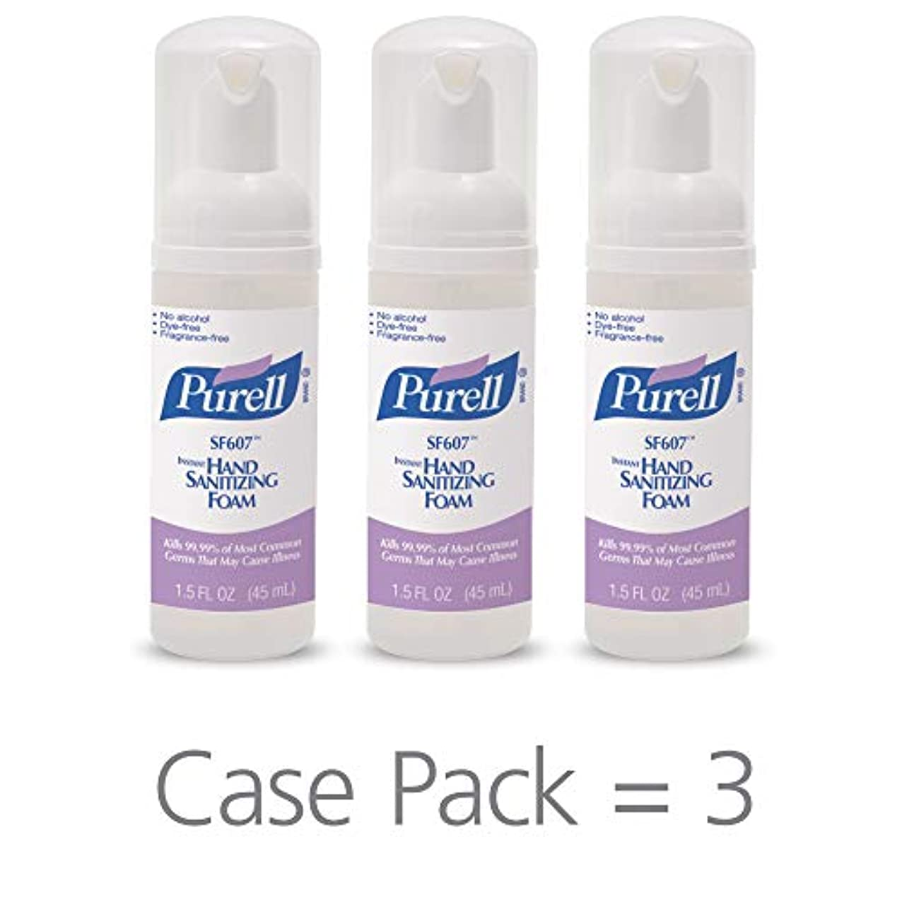 無視里親抵抗するPURELL SF607手の消毒液フォームポンプボトル ポータブル 45ml 24本ケース 5684-24