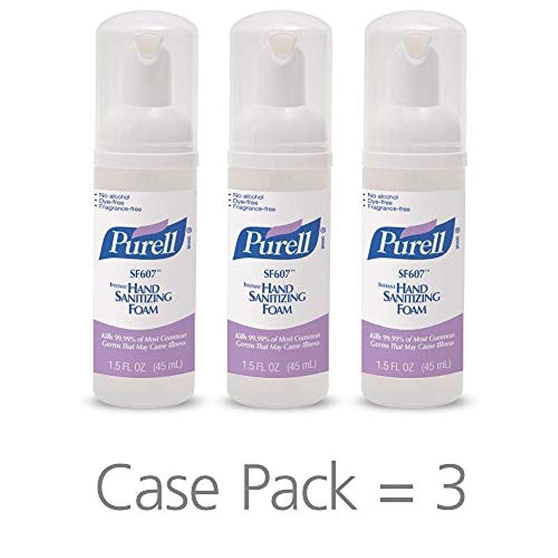 二年生誤って硫黄PURELL SF607手の消毒液フォームポンプボトル ポータブル 45ml 24本ケース 5684-24