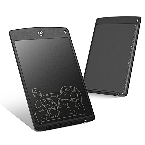 [해외]Hallomall 12 인치 전자 노트 전자 패드 전자 종이 LCD 태블릿 얇은 4mm 경량 펜 수납 가능 통치자 기능 전원 불필요 조작 쉽게 아이 선물 전자 수첩 청각 보조 | 필담 도구 | 어린이 그림 그리기 등에 대응 (개량품)/Hallomall 12 inch electronic ...