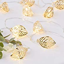 Ginger Ray Gold Leaf Vine String Lights Battery Operated Wedding Party Home Decoration - Gold Wedding