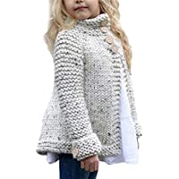 CoKate Toddler Baby Girls Autumn Winter Warm Button Knitted Sweater Cardigan Warm Thick Coat Clothes