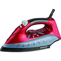 Brentwood Non-Stick Steam/Dry Spray Iron, Red