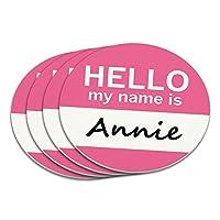アニーこんにちは、私の名前はコースターセット