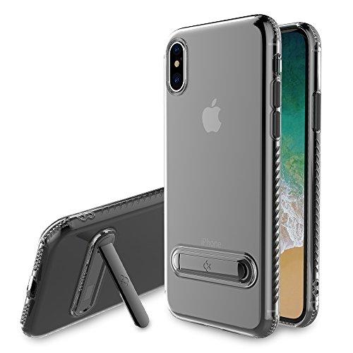 TmDeken iPhone x ケース クリア 完全カバー 衝撃吸収 スタ...