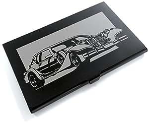 ブラックアルマイト「光岡自動車(MITSUOKA) ラ・セード 」切り絵デザインのカードケース[CC-022]