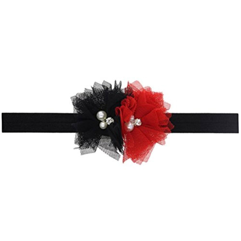 Zhhlinyuan ベビー小物 Kids ヘアアクセサリ Baby Girls Toddler Christmas/Photography Pops/Costume/Party Soft Elastic Flowers Headband Hairband 5124#