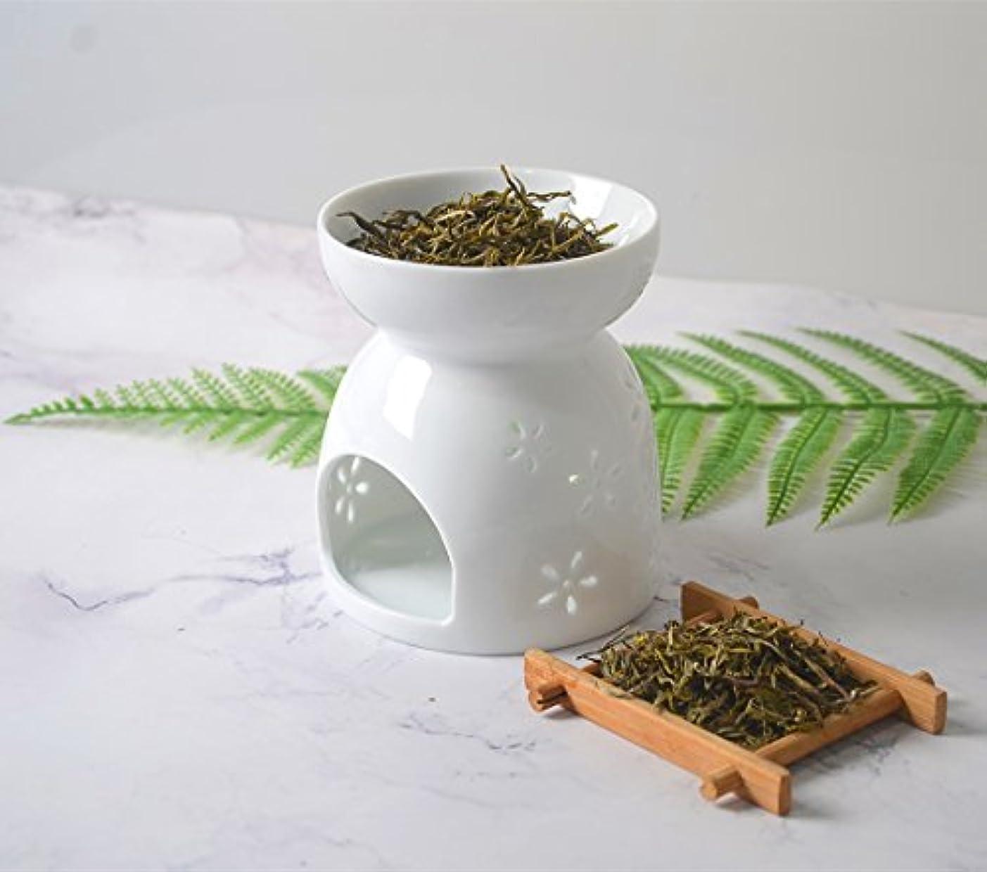 学ぶブロッサム未払いHwagui アロマ炉 癒しの 香り 茶 香炉 茶香炉 陶器 おしゃれ 贈り物 お茶の香り ホワイト 人気商品 陶芸 置物 消臭と love