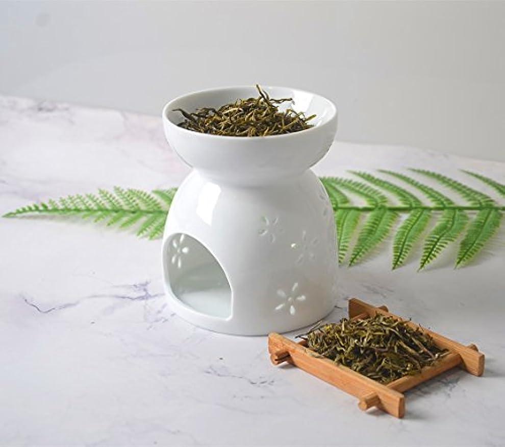 波紋馬鹿衣類Hwagui アロマ炉 癒しの 香り 茶 香炉 茶香炉 陶器 おしゃれ 贈り物 お茶の香り ホワイト 人気商品 陶芸 置物 消臭と love