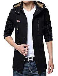 JinsX メンズ ダウンコート メンズ 中綿 冬 分厚い 裏起毛 ダウンジャケット 防寒 防風 厚手 アウトドア ファー付き 冬服