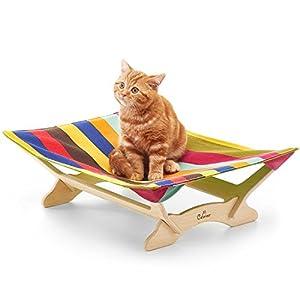 【一生モノの猫ハンモックベッド】 Catoneer キャットハンモック 猫ベッド キャットベッド 猫用品 ねこ ネコ 木製 ペット クッション 【国内正規品/日本語説明書】 (Vibrant)