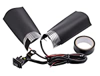 EZSelect 温度調節ができる 汎用 DIY 自作 巻きタイプ ホットグリップ グリップヒーター 標準ハンドル用 温度調整スイッチ付き 2段階 防寒ホットグリップ 巻くだけ簡単冬の必需品