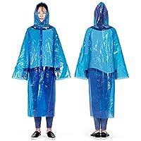 Outdoor Raincoat Reusable Adult Men Women Poncho Ultralight Portable Rain Protection Transparent Rain Cape for Camping Hiking Climbing 0.04mm NH15A001-C