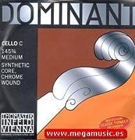 CUERDA VIOLONCELLO - Thomastik (Dominant 145) (Metal/Cromo) 4ェ Medium Cello 3/4 (Do) C (Una Unidad)