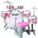 X-キッズドラム 子供のドラム音楽教育玩具オプション楽器の打楽器2色を打ちます (色 : ピンク)