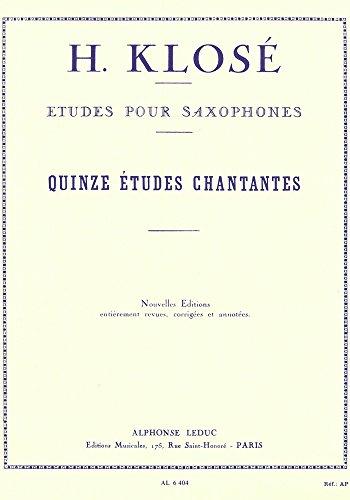 クローゼ : 15の音楽的な練習曲 (サクソフォン教則本) ルデュック出版