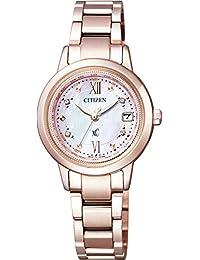 [シチズン]腕時計 xC クロスシー エコ・ドライブ電波時計 ティタニアライン ハッピーフライト 日中米欧電波受信 EC1147-52W レディース
