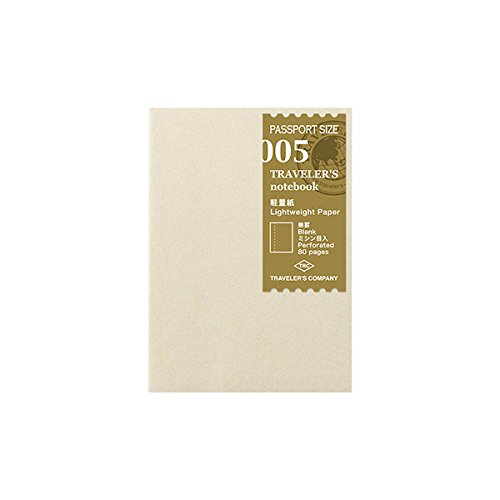 ミドリ トラベラーズノート パスポートサイズ リフィル 軽量紙