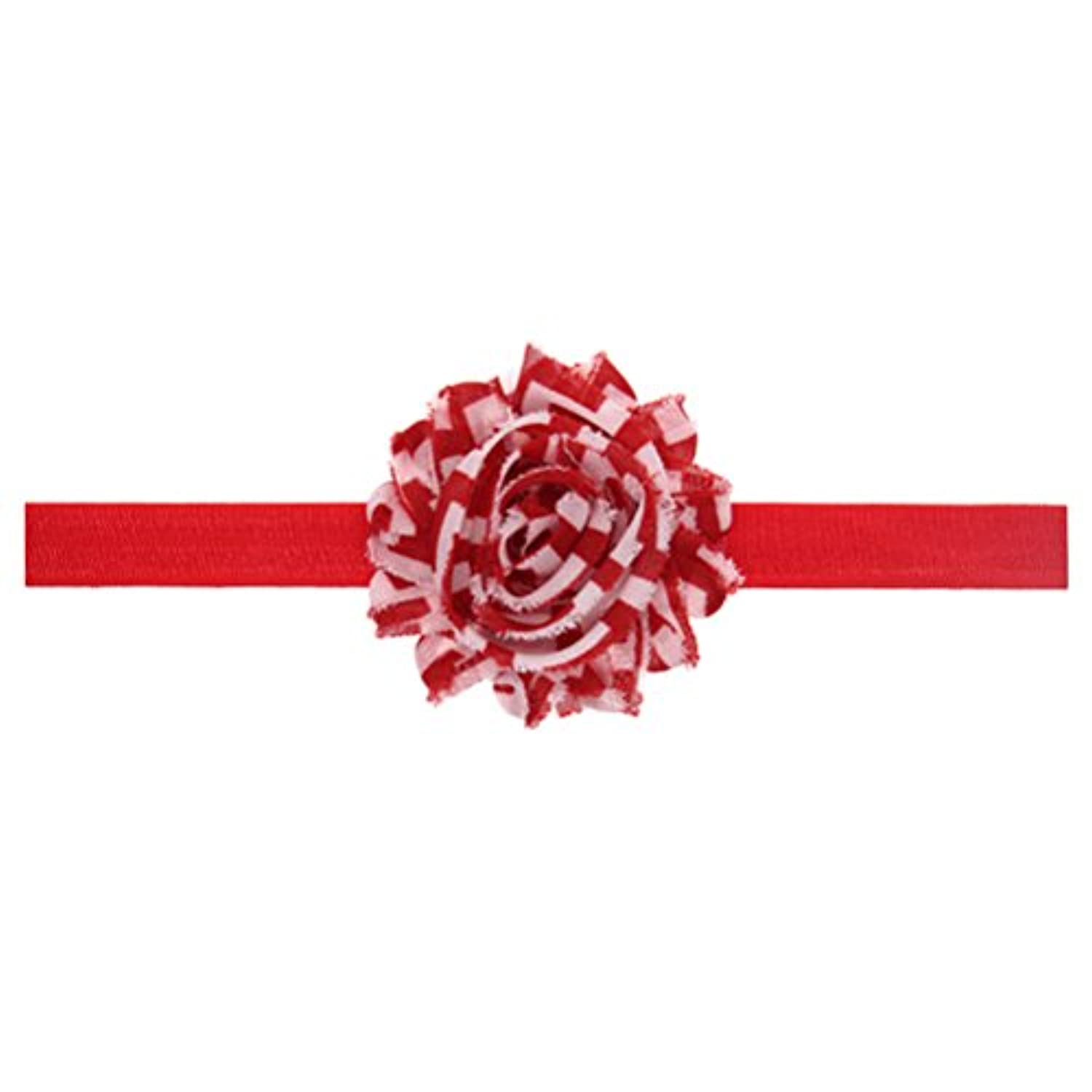 Zhhlaixing ベビー小物 Christmas Baby Girls Elastic Chiffon Silk Flower Headband Hairband Flower Hair Accessories
