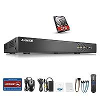 ANNKE(アンカ)300万画素防犯レコーダー 18ch防犯録画機 16台HD TVI/AHD/CVI/アナログカメラ対応 また2台1080P IPカメラ接続可 H.264+画像圧縮方式 モーション検知 遠隔監視 画像付きメール警報 16ch レコーダー(HDD 2TB)