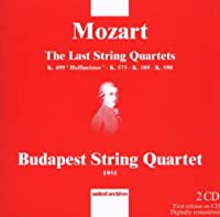 Mozart: Last String Quartets