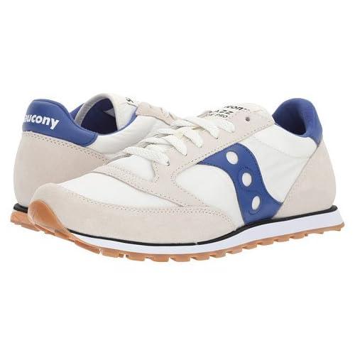 (サッカニー) SAUCONY レディースランニングシューズ・スニーカー・靴 Jazz Low Pro Cream/Blue 7.5 24cm D - Medium [並行輸入品]